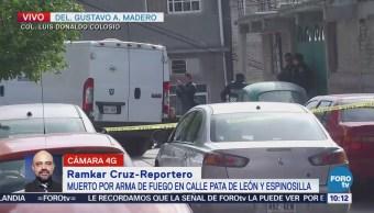 Reportan un hombre muerto en la delegación Gustavo A. Madero