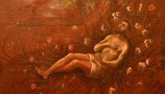 Restauran en Puebla pinturas sobre San Francisco de Asís