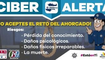Michoacán alerta sobre el reto 'El Ahorcado' en redes social