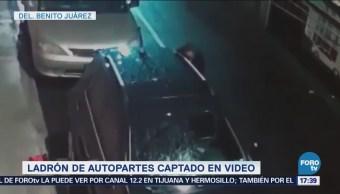 Robo Autopartes Captado Video