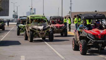 Más de 30 vehículos participan en deporte extremo en Boca del Río