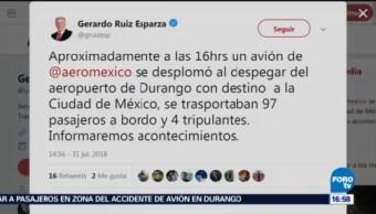 Sct Mantiene Pendiente Tras Accidente Avión Durango