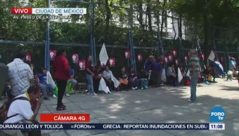 Se mantienen manifestantes frente a Embajada de EU en CDMX