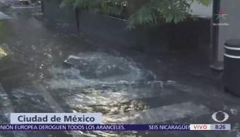 Se registra fuga de agua en Polanco, CDMX