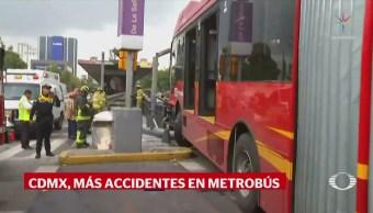 Se registra otro accidente de Metrobús