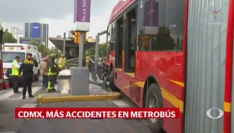 Se registra otro accidente de Metrobús