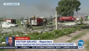 Retiran Unidades Emergencia Zona Estallido Tultepec
