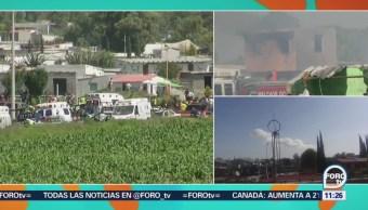 Sedena apoya respuesta de emergencia tras explosión de Tultepec