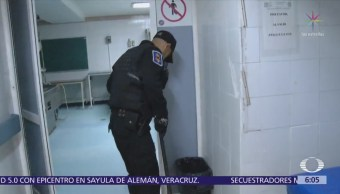 Simulacro de bomba en Hospital 20 de Noviembre, CDMX