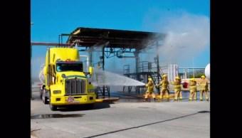 Realizan simulacro incendio instalaciones Pemex Campeche