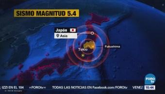 Sismo de magnitud 5.4 sacude a Japón