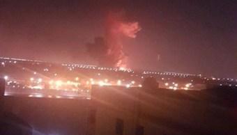 Suman 12 heridos explosión depósito militar El Cairo