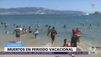 Suman 12 muertos durante vacaciones en Guerrero