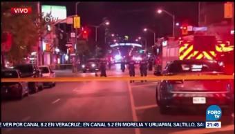 Tiroteo en restaurante deja al menos 10 heridos en Toronto