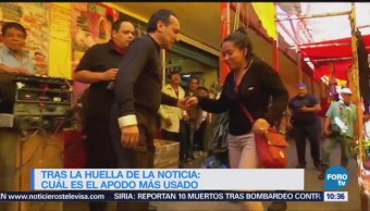 Tras la huella de la noticia: Los apodos