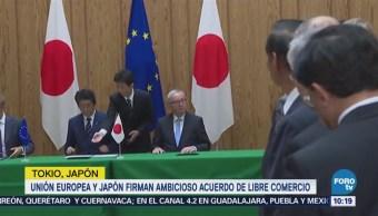 UE y Japón firman ambicioso tratado de libre comercio