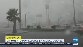 Muerto Lluvias Ciudad Juárez Chihuahua Inundaciones