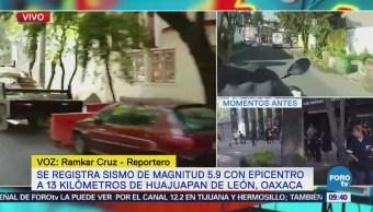 Vecinos de la colonia Condesa realizan actividades normales luego de sismo
