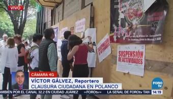 Vecinos Polanco Manifiestan Construcción Antro CDMX