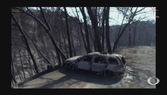 Víctimas de incendios en Grecia denuncian falta
