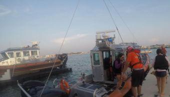Semar rescata a familia de en yate a la deriva en Yucatán