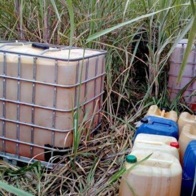Huachicoleros en Oaxaca y Jalisco abandonan miles de litros de combustible