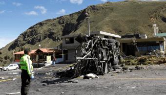 Droga es hallada en autobús accidentado en Ecuador