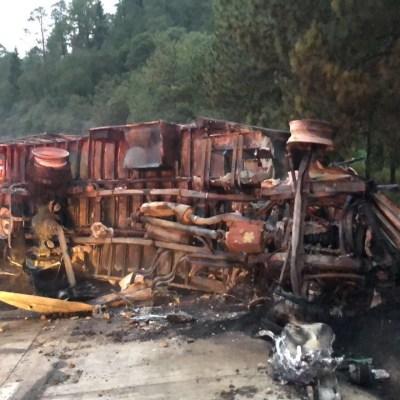 Accidente en la autopista México Puebla deja cuatro lesionados, dos graves