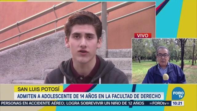 Adolescente 14 Años Estudiará Derecho San Luis Potosí