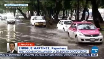 Afectaciones Lluvias Delegación Azcapotzalco Encharcamientos En Vialidades Complicaciones En Circulación Vehicular