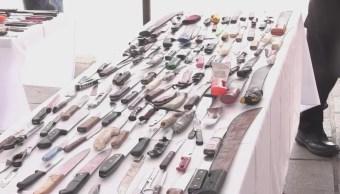 Aguascalientes destruye más de 3 mil armas decomisadas