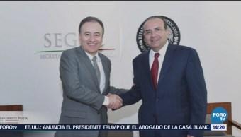 Alfonso Navarrete se reúne con Alfonso Durazo