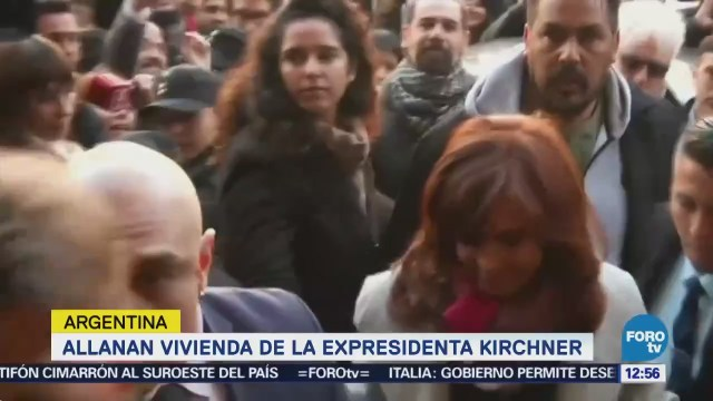 Allanan vivienda de la expresidenta Cristina Fernández en Argentina
