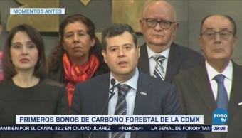 Amieva anuncia los primeros bonos de carbono forestal capitalinos