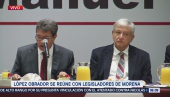 AMLO se reúne con senadores electos de Morena