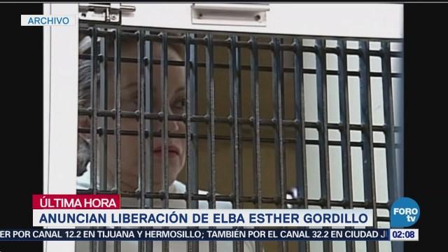 Anuncian liberación de Elba Esther Gordillo