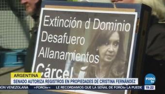 Aprueban Allanar Residencias Cristina Kirchner Argentina