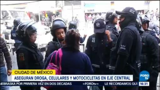 Aseguran Droga Detienen Persona Meave Eje Central Secretaría De Seguridad Pública De La Ciudad De México Operativo En Plaza Meave