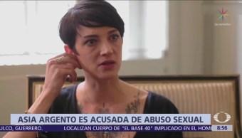 Asia Argento es acusada de abuso a menor