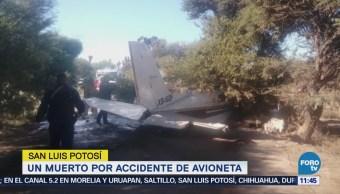 Avioneta se desploma en La Morena, San Luis Potosí; muere una persona