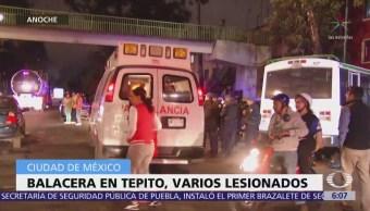 Balacera en Tepito deja al menos 4 heridos