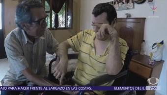 Buscan pensión del IMSS para hombre discapacitado nacimiento