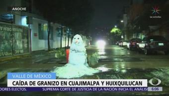 Caída de granizo en Cuajimalpa y Huixquilucan afecta vialidades