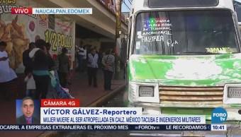 Camión de transporte público atropella a una mujer en avenida Ingenieros Militares