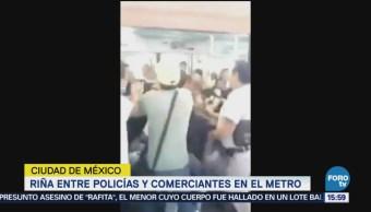 Vagoneros Golpean Policías Línea B Del Metro Policía Bancaria E Industrial Operativo Contra Comercio Informal Metro