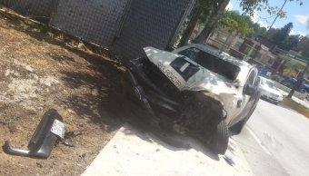 Choque en la carretera Xalapa Coatepec deja dos lesionados