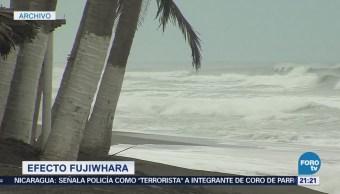 Ciclones tropicales podrías provocar un Efecto Fujiwhara