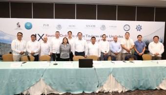 Titulares de unidades antisecuestro se reúnen en Tabasco