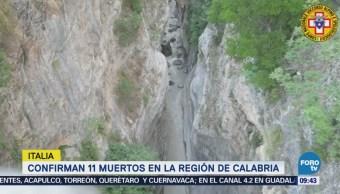Confirman la muerte de 11 excursionistas en Calabria