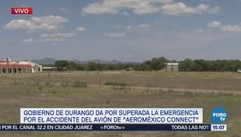Continúan hospitalizadas 21 tras accidente aéreo en Durango